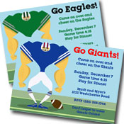 Football team theme invitations
